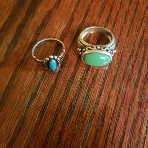 2 size 6 Stone Rings